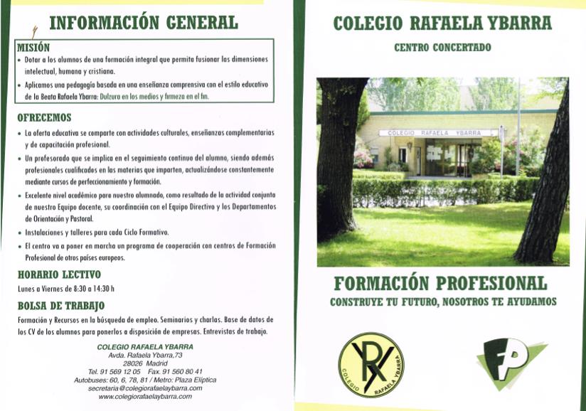 Cliclos Formativos Y Fp Básica Colegio Rafaela Ybarra